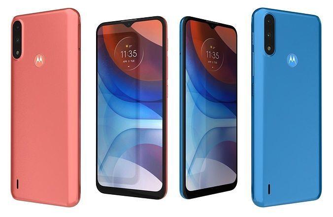 Motorola Moto E7i Power Coral Red And Tahiti Blue