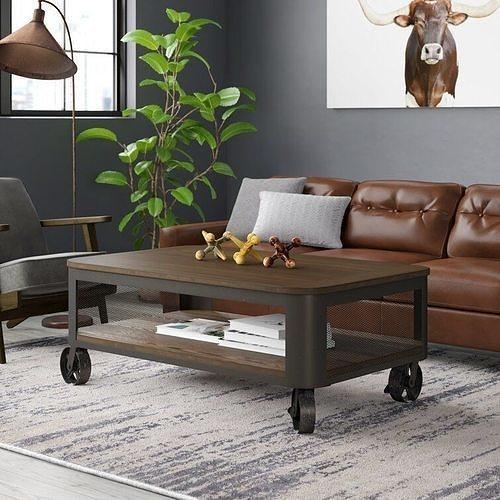 Emerico Lift Top Wheel Coffee Table with Storage