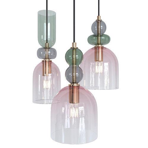Cluster Pendant Lamp Green Multi