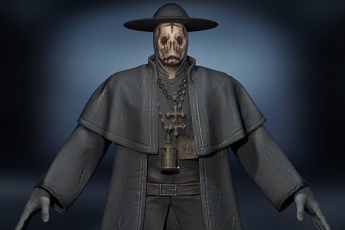 Unity Ready Cursed Priest - Low Poly