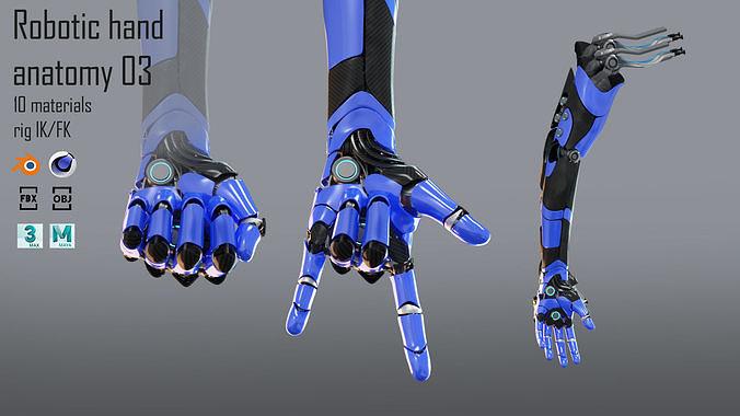 Robotic hand anatomy 03