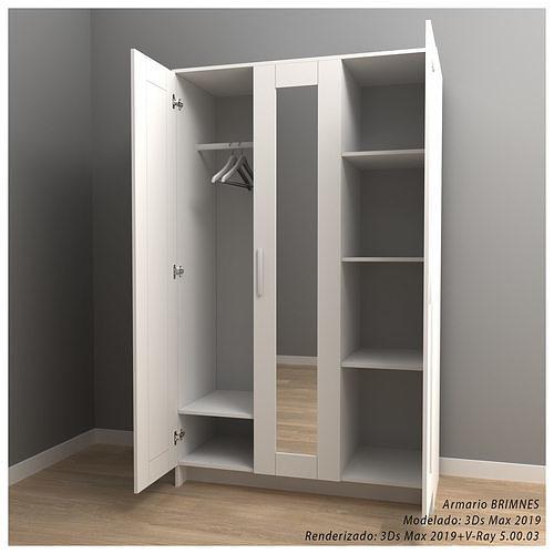 IKEA BRIMNES wardrobe with three doors and mirror