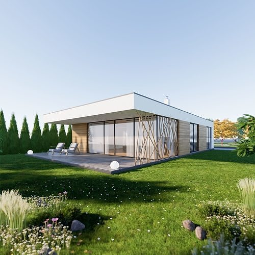 Bungalow 4 - Created with fully parametric Revit Families