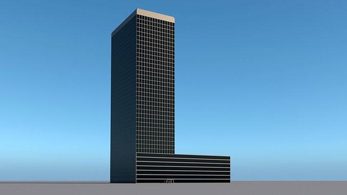 High-rise building skyscraper  letter L 3D model