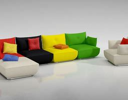 Modern Colorful Couch 3D