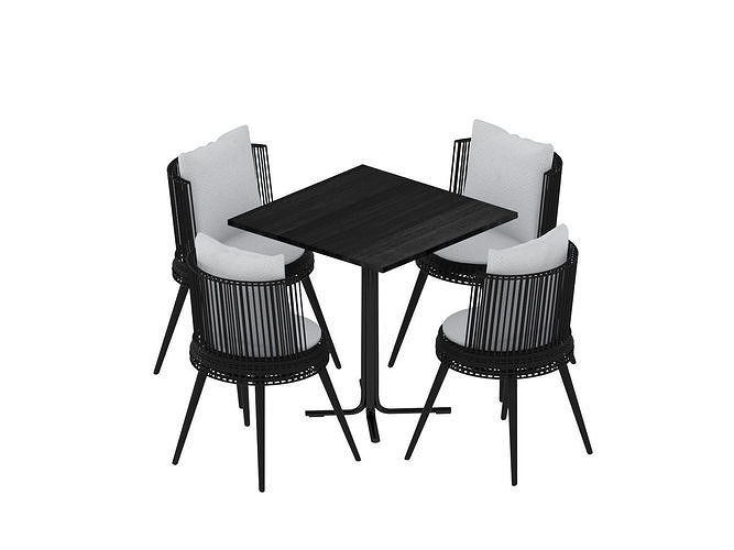 outdoor square table and chair