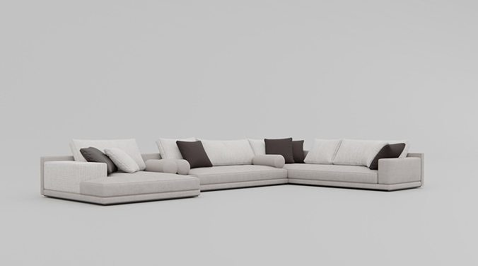 Poliform Mondarian Sofa Model 3D Model