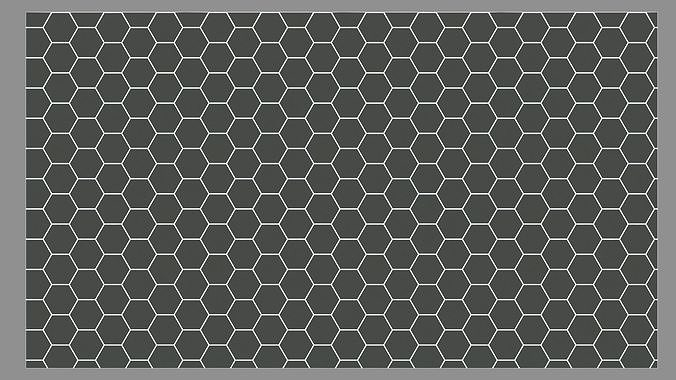 Hexagonal Tiles Floor