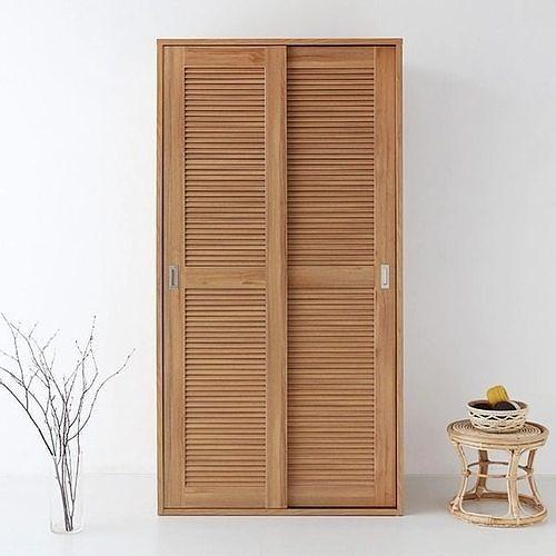 BELOIN sliding narrow two door wardrobe