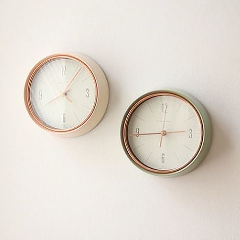 Retro Olive Silent Wall Clock