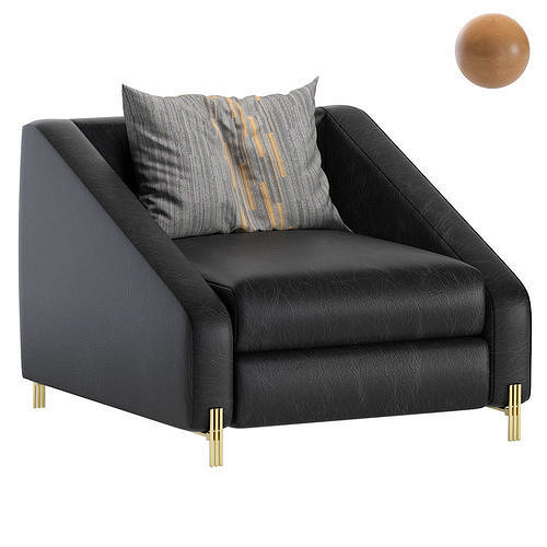 Armchair CANDICE Leather Eichholtz