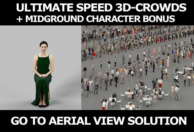 3d crowds and Eternal holding hands on lap Event Sitting Woman