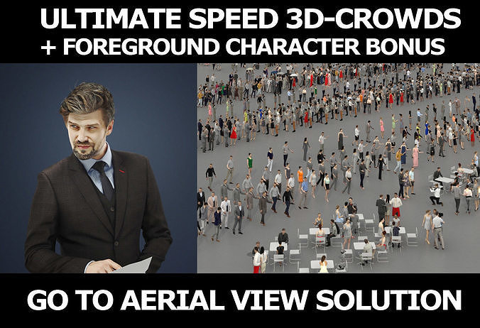 3d crowds Ingrain Viewing Documents A Foreground Business Man