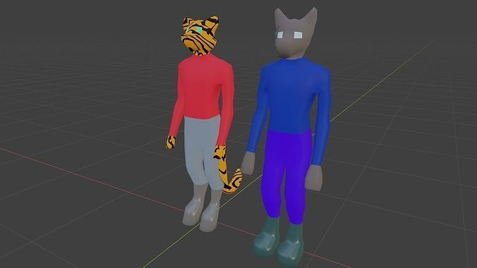 Low-Poly furry characters