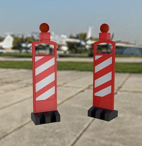 Traffic Vertical Panel Channelizer Barricade Lights