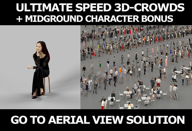 3d crowds and Passion a foreground event Sitting Asian Woman