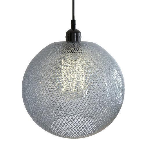 Grey Textured Round Pendant