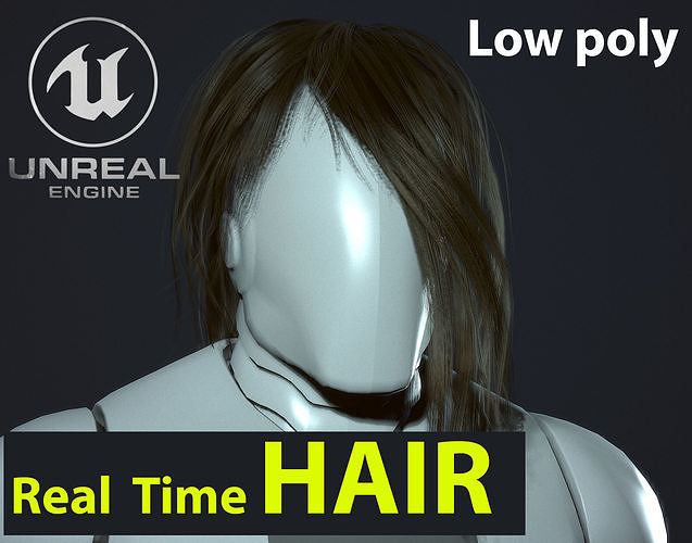Hair 01 Game Ready Low-poly 3D model