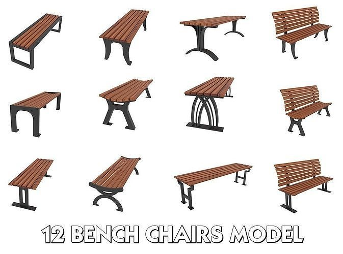 12 Bench Chairs