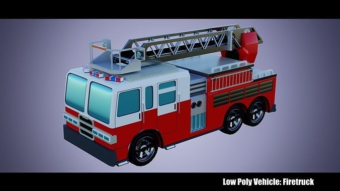 Low Poly Vehicle -  Firetruck