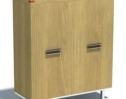 wooden file cabinet 3d