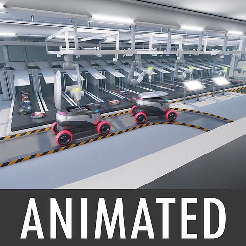 Warehouse robots Delivery Drone interior