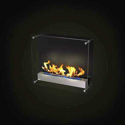 modern gas fireplace 3d model obj 1