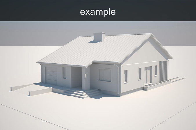 Example house model cgtrader for Free 3d house models