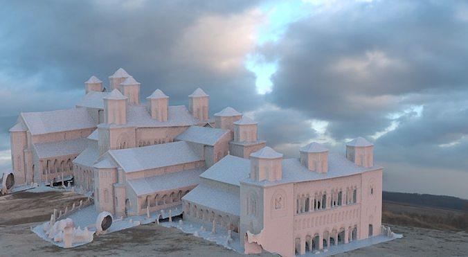 mansion large complex 3d model