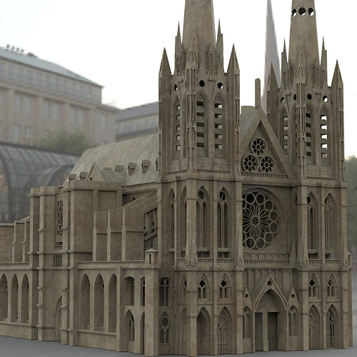 3d Clermont Cathedral Cgtrader