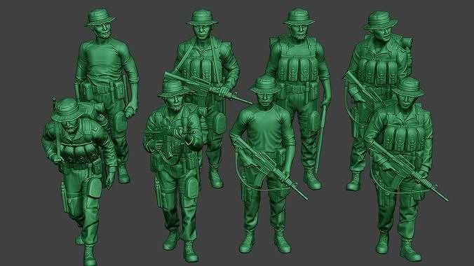 Modern Jungle Soldiers MJS1 Pack 4