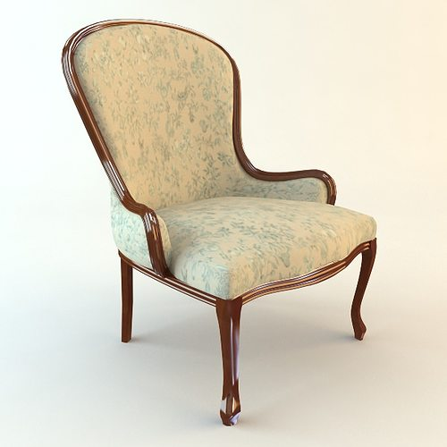classical antique armchair 3d model max obj mtl 3ds fbx unitypackage prefab  1 ... - 3D Model Classical Antique Armchair CGTrader