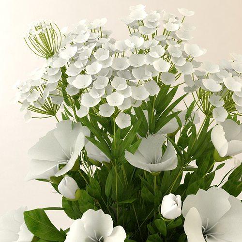 3d model white flower bouquet in vase cgtrader white flower bouquet in vase 3d model max 3ds fbx 2 mightylinksfo