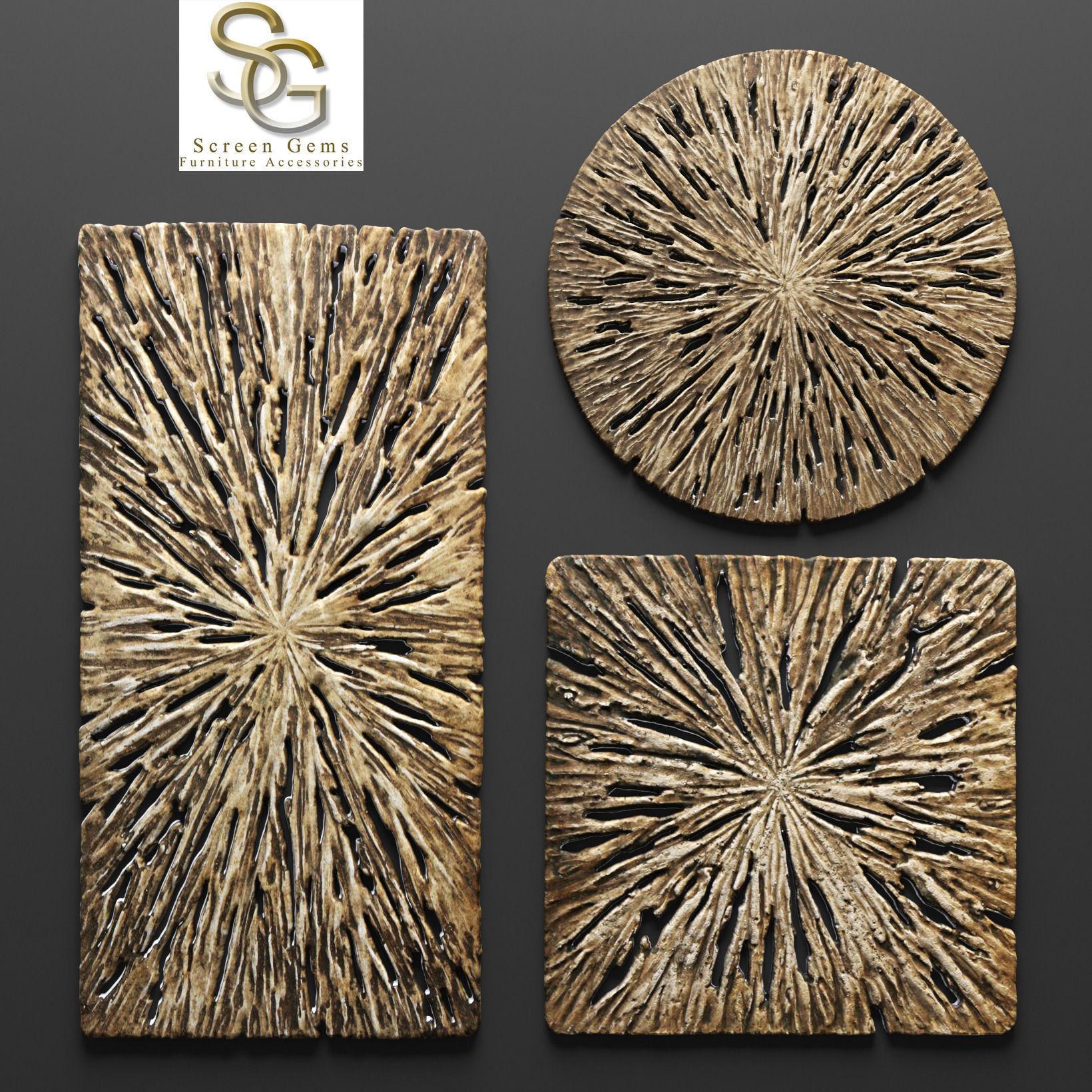 Attrayant Rotten Wood Wall Art   Set 3d Model Max Obj Fbx Mtl ...