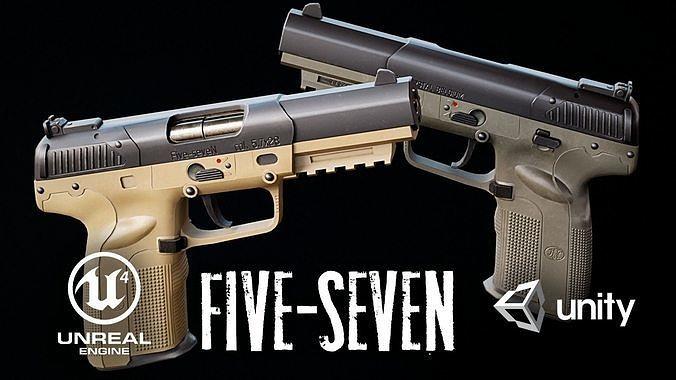 FN Five-seven Low-poly 3D model