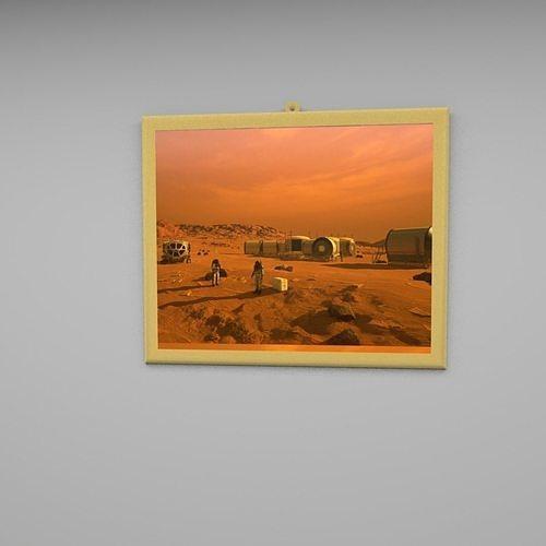 Mars wall frame