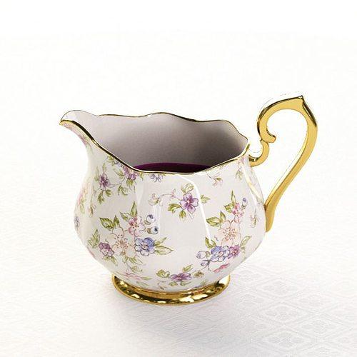 detailed porcelain jug with flowery design 3d model obj mtl 1