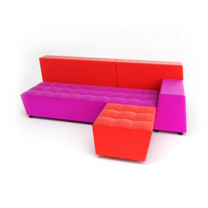 Sofa Red Pink