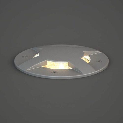 circular grey lamp 3d model obj mtl 1