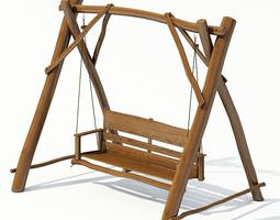 Outdoor Garden Swing 3D model