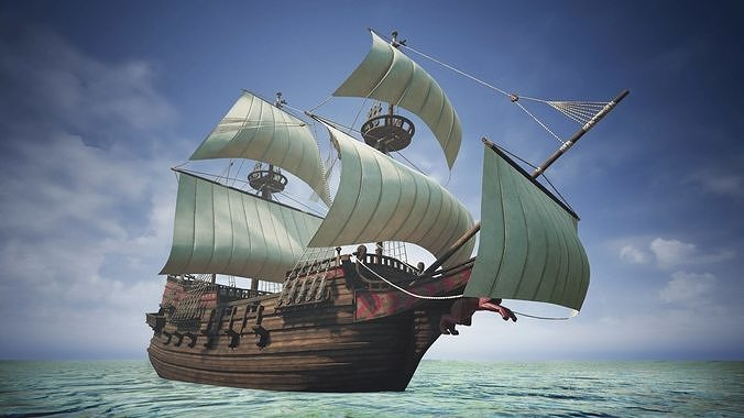 Roter Lowe Galleon