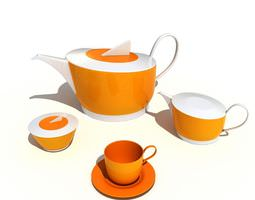 3D model Yellow And White Kitchenware