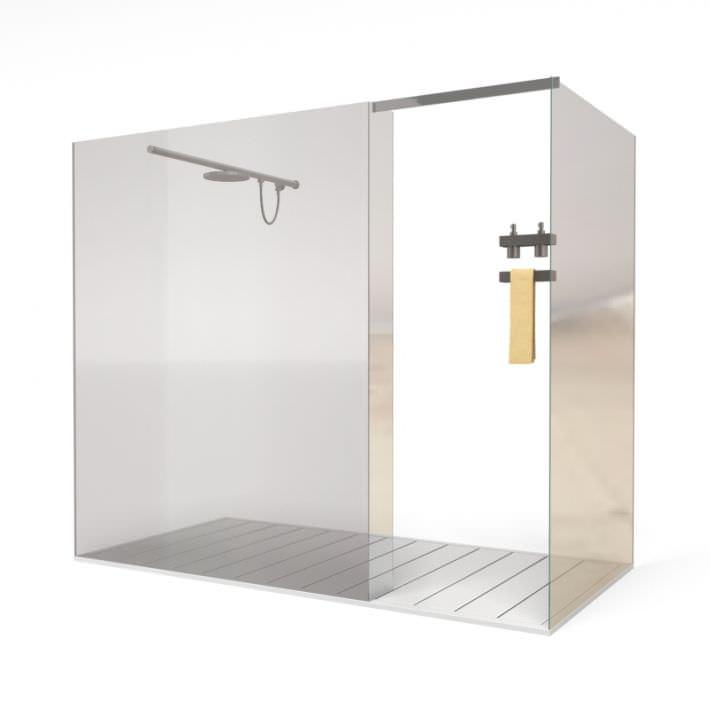 Glass Shower Cabin 3d Model 1