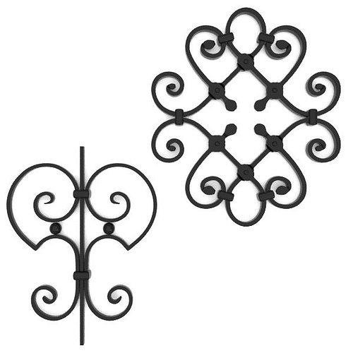 wrought iron elements vol 1 3d model obj mtl fbx blend 1