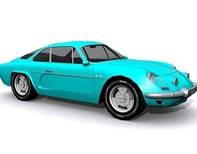 Alpine Renault 1600 S 3D asset