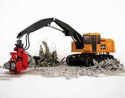 Truck Construction Vehicle 3D model