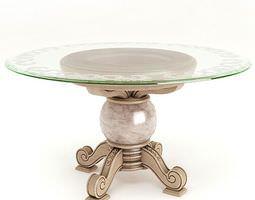 Marble Glass Table 3D