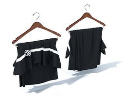Dark Clothes On Hangers 3D