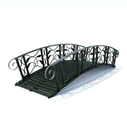 black colored bridge 3d model obj 1
