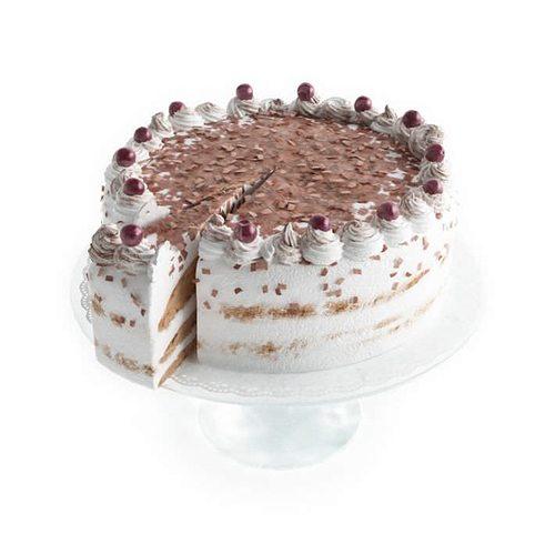 white cake with berries 3d model obj 1